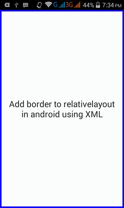 add layout xml programmatically android add border to relativelayout in android using xml