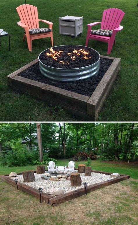 backyard firepit ideas best 25 pit designs ideas on deck