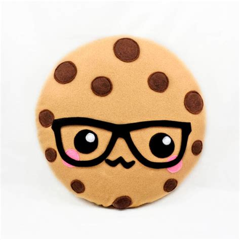 cookie emoji oem emoji cotton plush stuffed food toys cookie