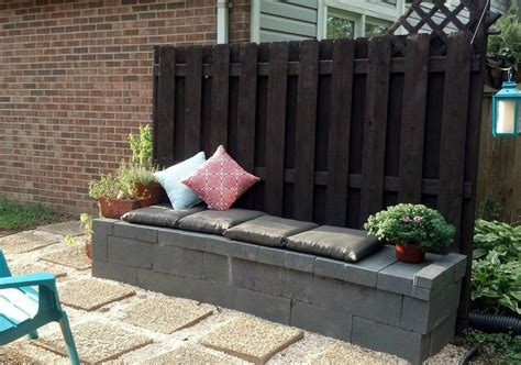 Cinder Block Furniture Backyard Cinder Block Patio Furniture