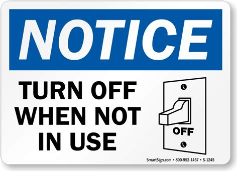 Do Ls Use Electricity When Turned by Conserve Energy Signs And Stickers