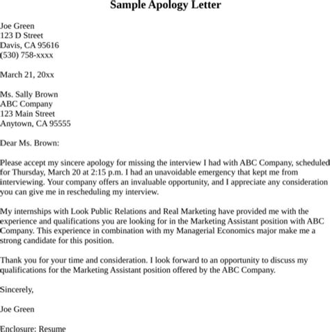 Apology Letter To For Missing Test Apologize Letter For Missed Appointment For Excel Pdf And Word