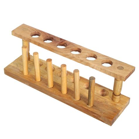 Wooden Test Rack by Kicute Wooden Test Rack 6 Holes And 6 Pins Holder