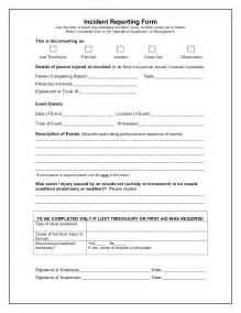 near miss incident report template incident reporting form