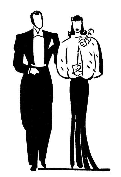 Retro Clip Art   Couples   Anniversary   The Graphics Fairy