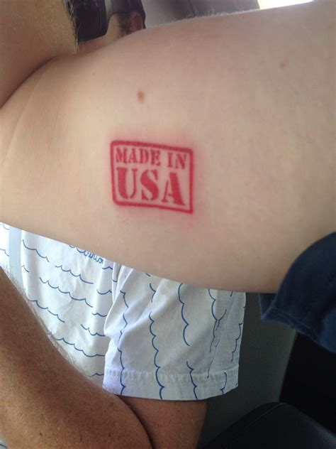 made in america tattoo made in usa to celebrate 4th of july this year