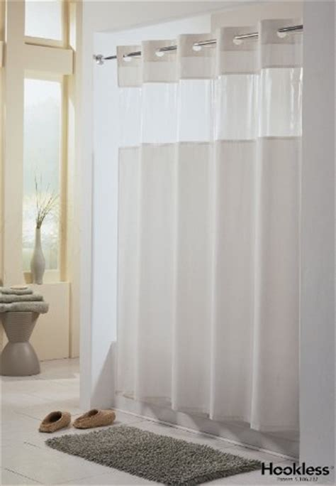 fabric clear top shower curtain viewtop fabric shower curtain hookless white with clear