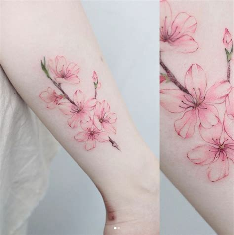 sakura tattoo design 48 cherry blossom tattoos that are way beyond