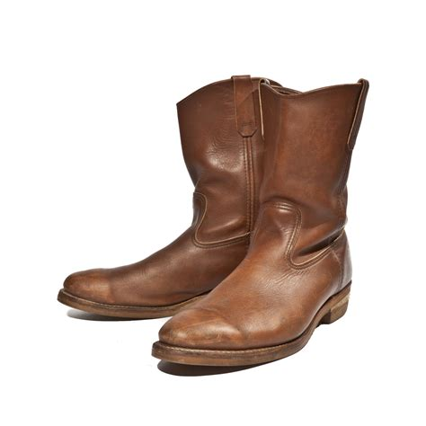 s vintage wing pecos boots in brown by
