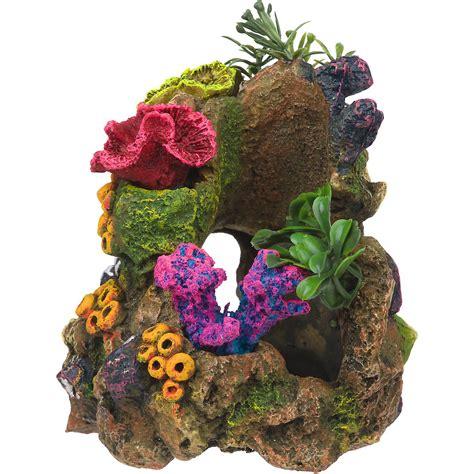 rockgarden resin aquarium coral garden petco