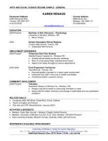 scientific resume template scientific resume exle thebridgesummit co