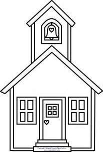 school house color page school house clipart clipart best