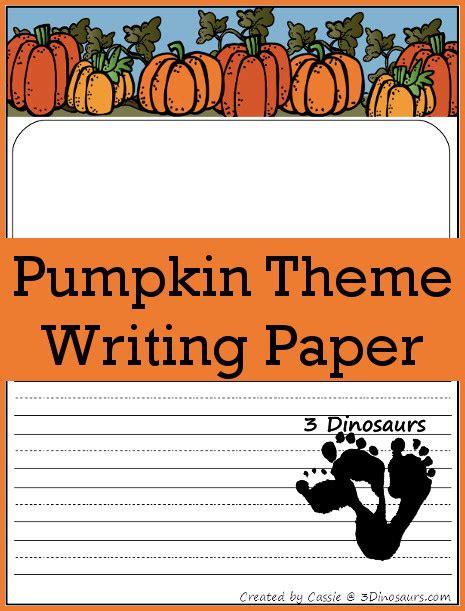 pumpkin writing paper free pumpkin themed writing paper 3 dinosaurs