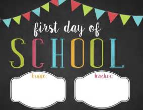 Day Of School Sign Template by Free Customizable Day Of School Printable