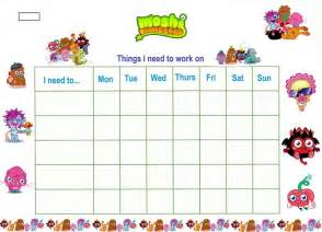 sticker chart template reward chart template for kiddo shelter