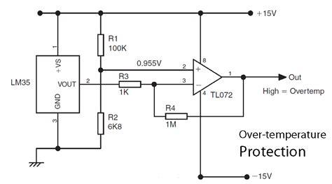 basic lm35 temperature sensor circuit electronic circuit
