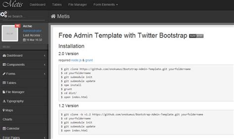 yii different layout for admin collection of free twitter bootstrap templates and themes