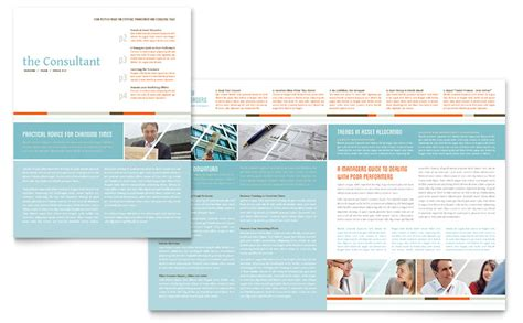 Management Consulting Newsletter Template Word Publisher 11x17 Tri Fold Brochure Template Publisher