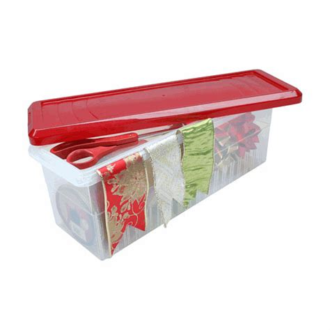 gift wrap storage containers plastic ribbon storage box and dispenser in gift wrap