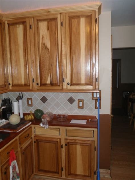 hickory kitchen cabinets home depot hickory cabinets with jatoba coutertops by straightpiped
