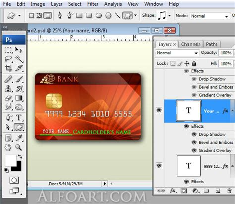 tutorial carding credit card 2014 process of making a platinum credit card using photoshop