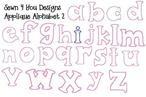 applique letter templates sewn 4 you designs applique embroidery designs