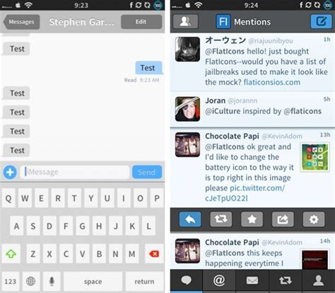 themes messages iphone how to create ios 7 on a jailbroken iphone running ios 6