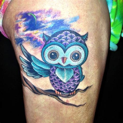 colorful owl tattoo designs baby owl and tattos the bodies