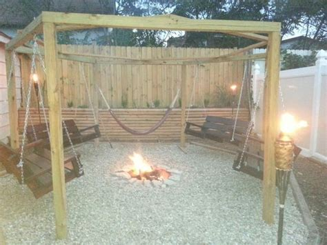 hexagon swing fire pit outdoor gazebo with in ground fire pit and hand made