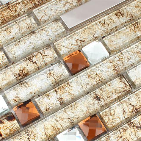 metallic mosaic tile backsplash wholesale metallic backsplash tiles brown 304 stainless
