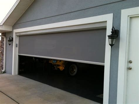 Screen For Garage Door Opening by Garage Door Screen Kits Designs And Styles Home Doors