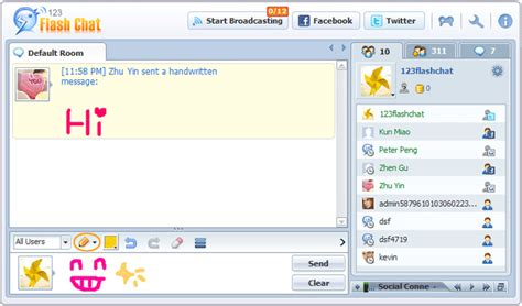 chat rooms 10 and view user manual of 123 flash chat server software version 10 0