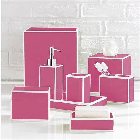 Pink Bathroom Accessories Sets Luxury Pink Bath Accessory Sets