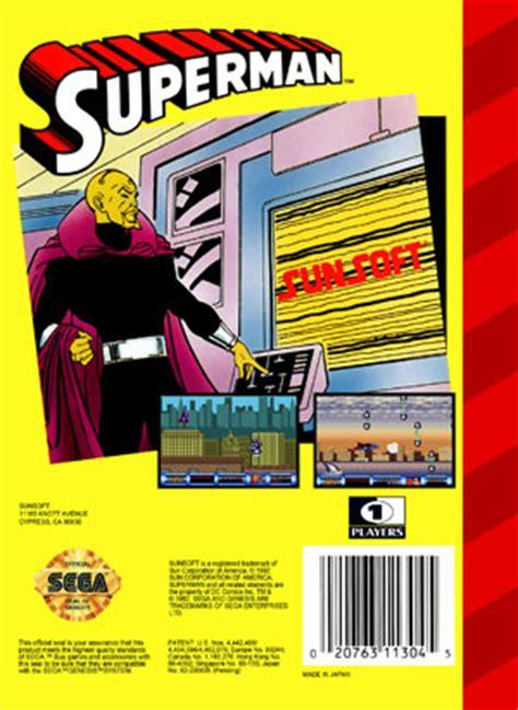 sega genesis superman sega genesis superman custom retro cases