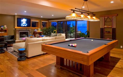 pool table in living room modern living room design with billiard pool at the center