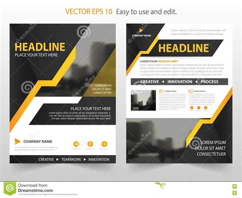 magazine layout design vector yellow black abstract annual report brochure design