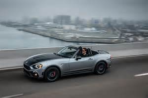 Fiat 124 Spider Abarth 2017 Fiat 124 Spider Abarth Front Three Quarter In Motion
