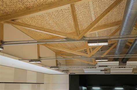 beleuchtung len akustik lignatur im multifunktionalen sportzentrum
