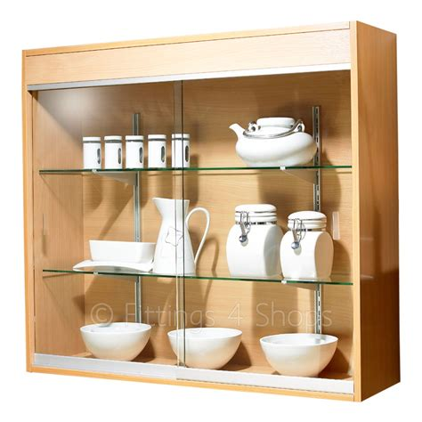 wall mounted glass display cabinet shop wall display cabinet glass doors