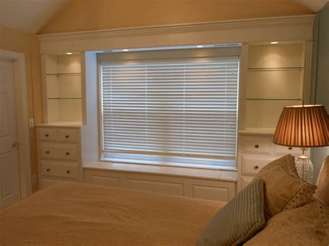Built In Shelves In Bedroom by Built In Shelves And Cabinets Traditional Bedroom