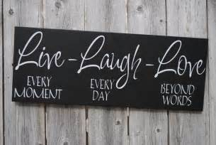 home decor sign live laugh love 6x18 wood sign home decor sign family sign