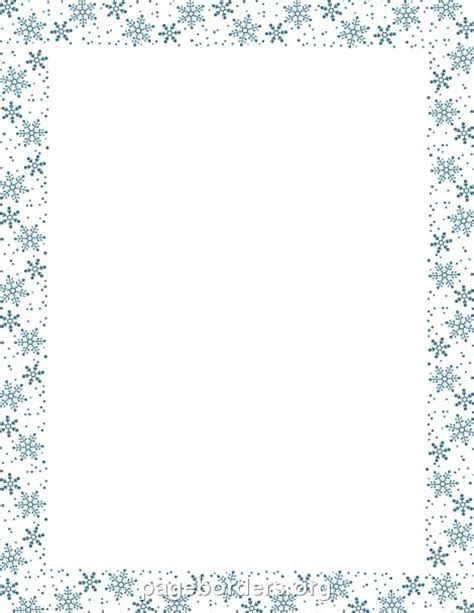 a4 printable snowflake template snowflake border id 233 es bordures de pages pinterest