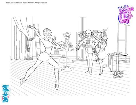 ballerina kristyn is training coloring pages hellokids com