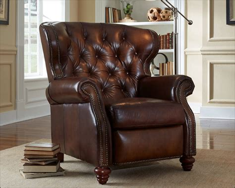 Who Makes The Best Leather Recliners by American Made Tufted Leather Recliner