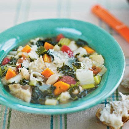 Detox Soup With Kale Spinach Potatoes Carrots by Ribollita Soup Olive Leeks Garlic Celery
