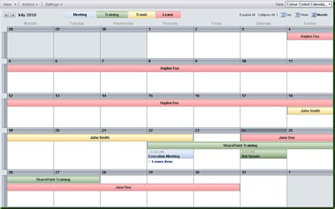 color coding sharepoint calendar events color coding sharepoint calendar events
