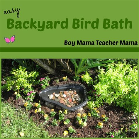 boy easy backyard bird bath boy