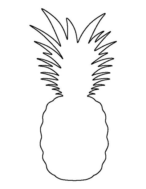 pineapple template pineapple pattern use the printable outline for crafts