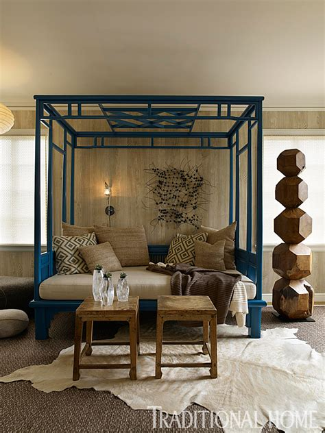 how to add color to a room brilliant blue and brown traditional home