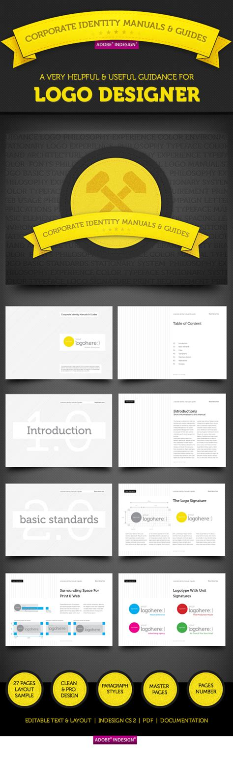 corporate identity manual template corporate identity manuals and guides template on behance